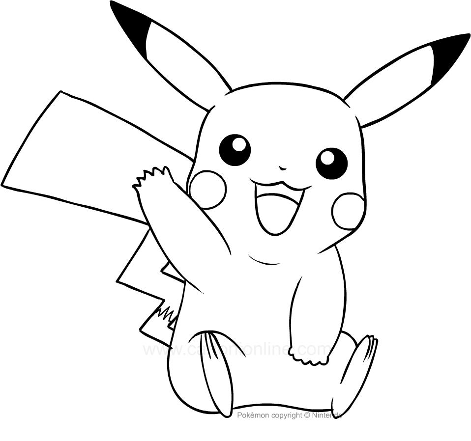 Dibujo De Pikachu De Los Pokemon Para Colorear