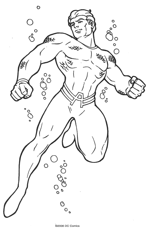 aquaman coloring pages # 29