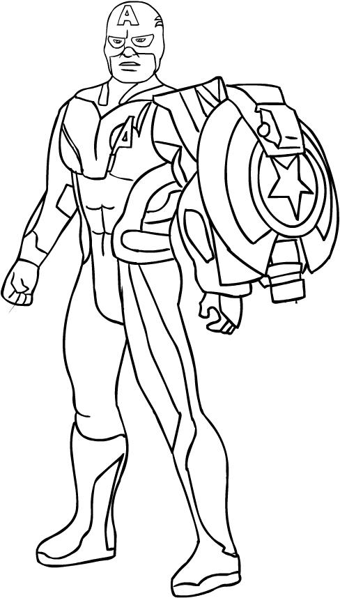 Dibujos Para Pintar De Avengers End Game