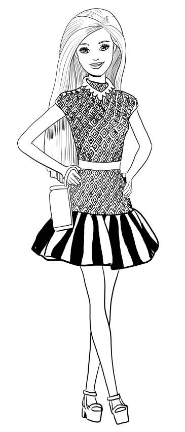 Barbie disegni da colorare e stampare tecnogers - Barbie colorazione pagine libero ...