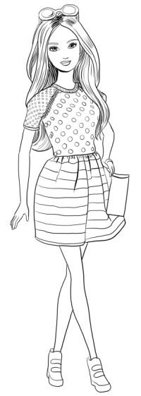 Disegni Da Colorare E Stampare Di Barbie Magia Della Moda