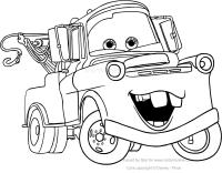 """Disegno di Carl Attrezzi """"Cricchetto"""" di Cars da colorare"""