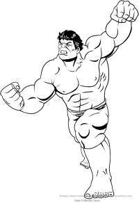 Disegno di Hulk all'attacco da colorare