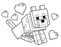 Disegni minecraft da colorare disegno di villico di for Disegni da colorare minecraft