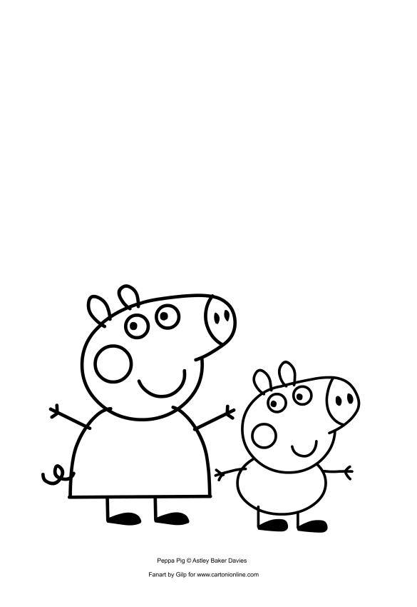 Disegni Da Colorare Peppa Pig E George