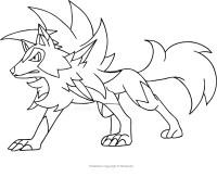 Disegno di Lycanroc dei Pokemon da colorare