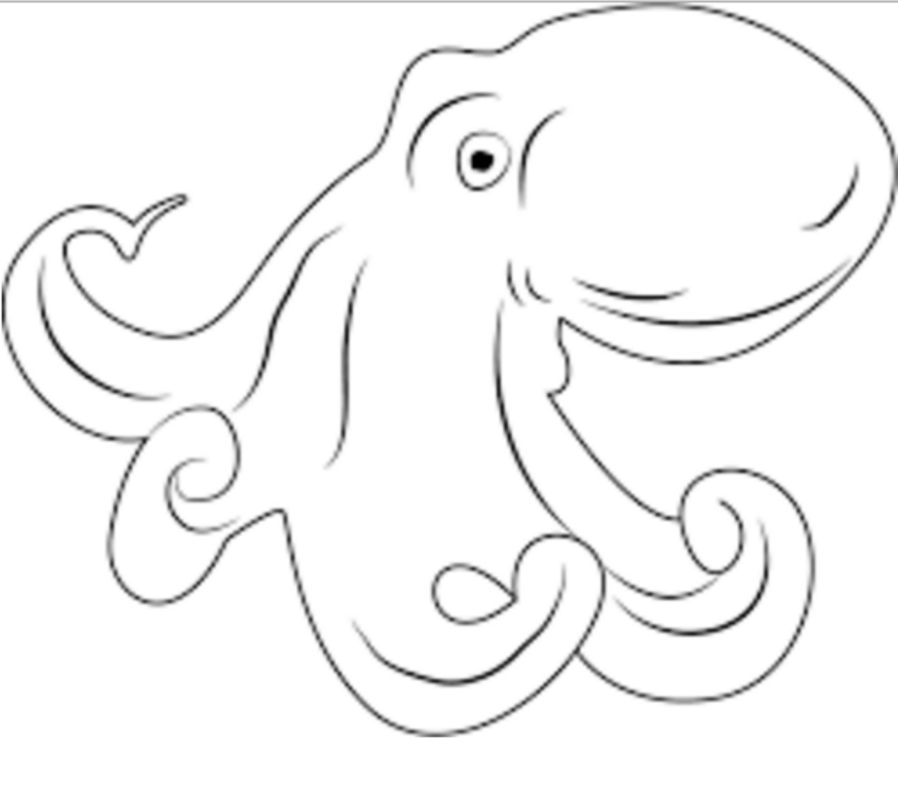 Drawing 2 From Octopus Coloring Page