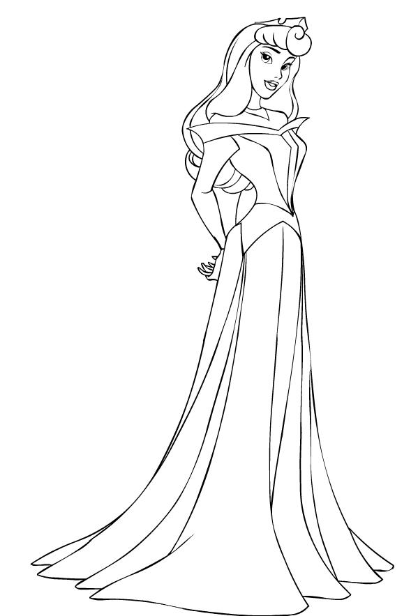 Immagini Principesse Da Colorare.Principesse Stampare Disegni Da Colorare
