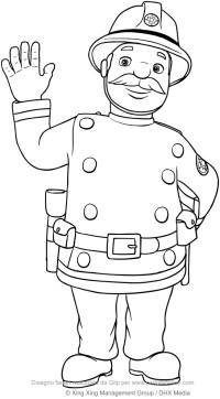 Disegno di Capitano Basil Steele (Sam il pompiere) da colorare