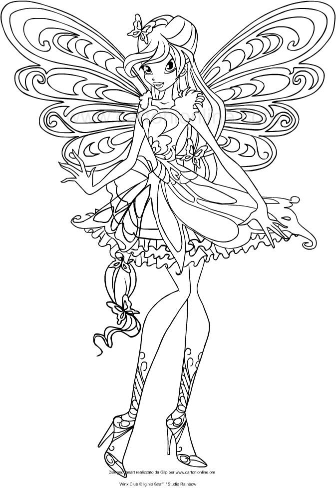 Disegno Di Bloom Butterflix Winx Club Da Colorare