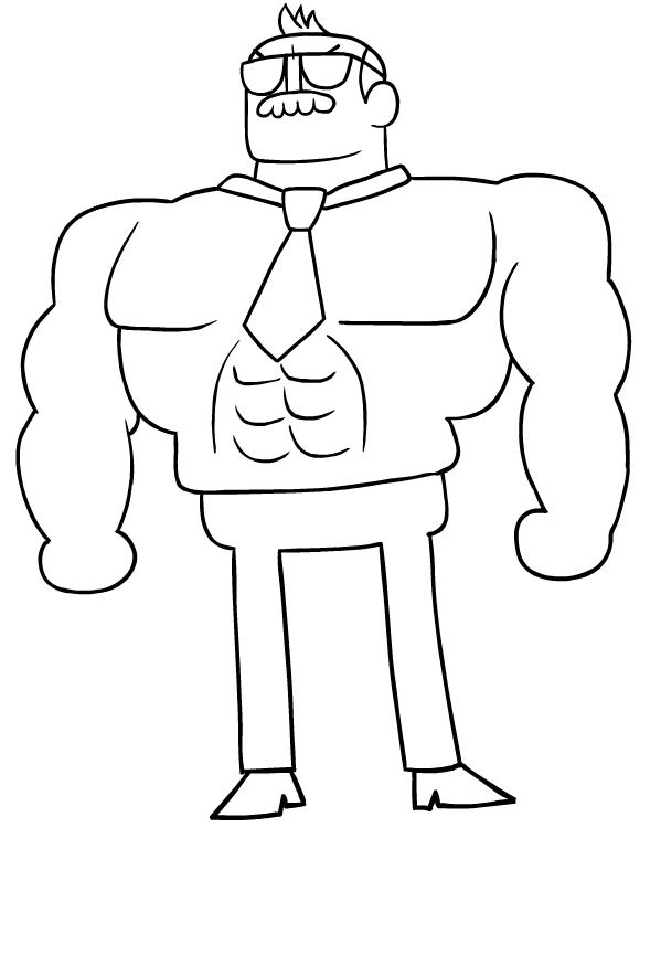 Drawing of Mr. Gar di OK K.O. coloring page