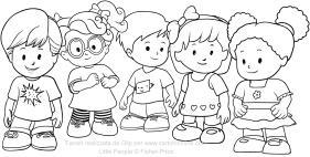 Disegni of Little People coloring pages