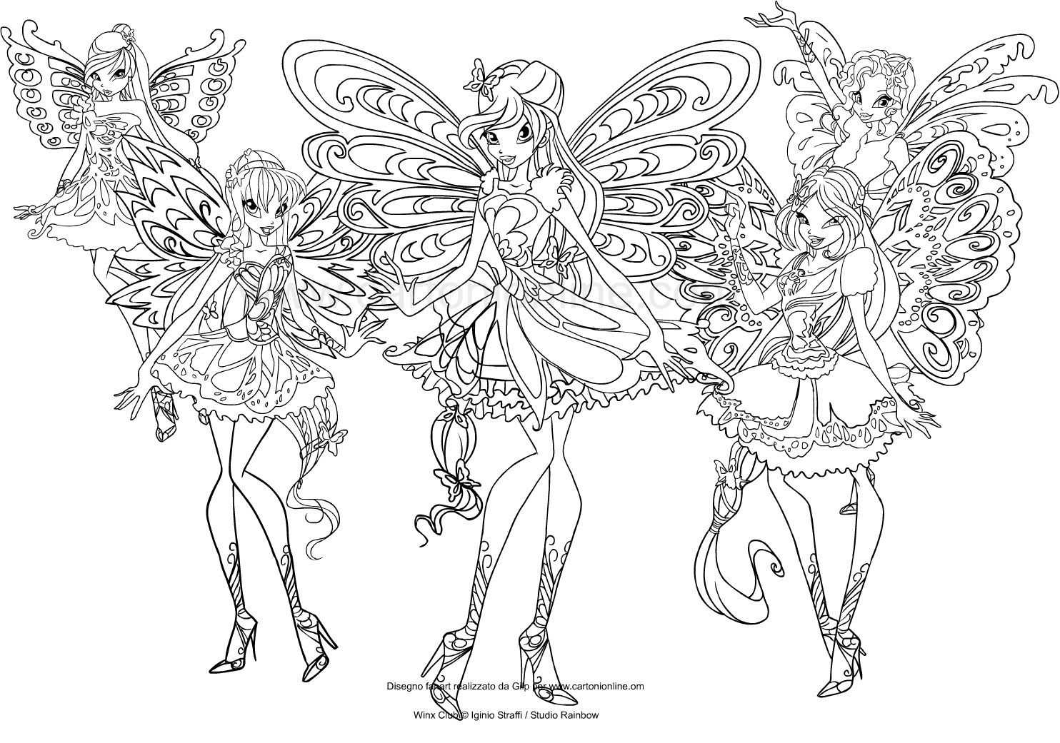 Drawing The Winx Club Butterflix Coloring Page