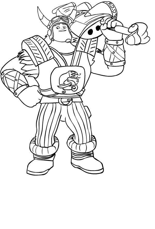 Drawing Of Crogar Di Zak Storm Coloring Page
