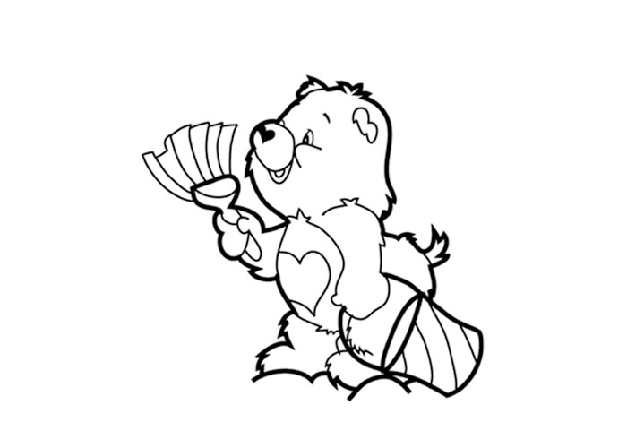 coloring pictures tenderheart bear