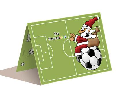 Weihnachtskarte Fussball ab 50 Stck 199 EUR
