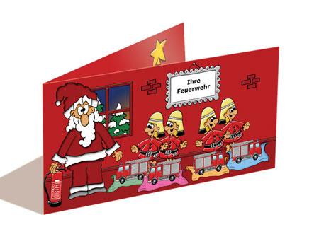 Weihnachtskarte Feuerwehr