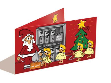 Weihnachtskarte ITDienstleistungen Computer Netzwerke EDV