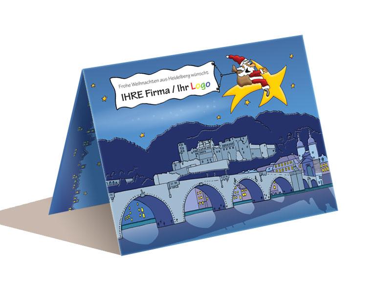 Weihnachtskarte Heidelberg