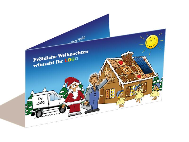 Weihnachtskarte Photovoltaik Solaranlagen