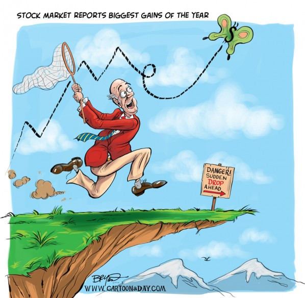 stock market reports gains