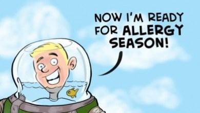 Fall Allergy Season Begins Cartoon