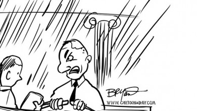 Hurricane Sandy Makes landfall Millions at Risk Cartoon