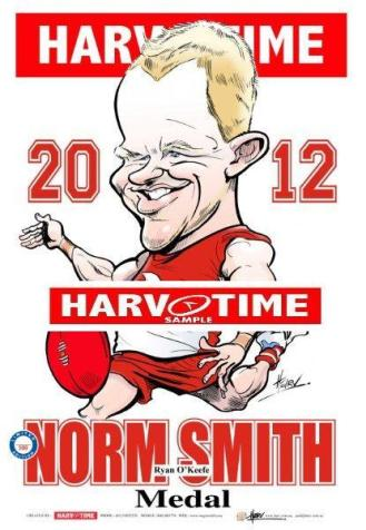 Harv Time Norm Smith Medal Print 2012