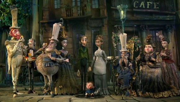 The finished characters from 'The Boxtrolls.'