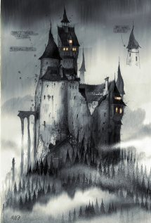 Cartoon Hotel Transylvania Castle
