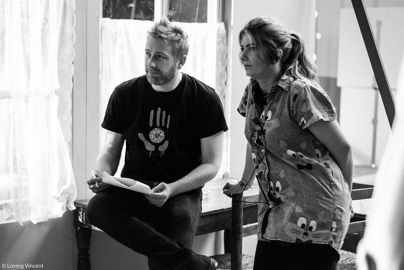 """Loving Vincent"" directors Hugh Welchman and Dorota Kobiela."