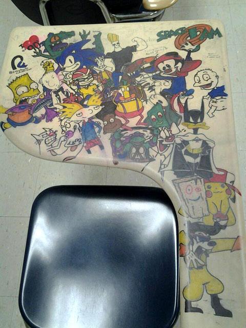 90s Cartoon Desk Doodle