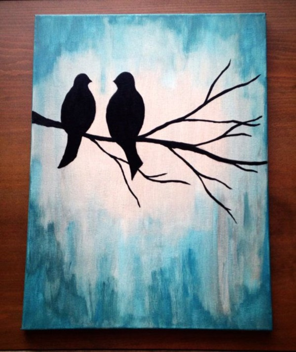 110 Easy Canvas Painting Ideas For Beginners