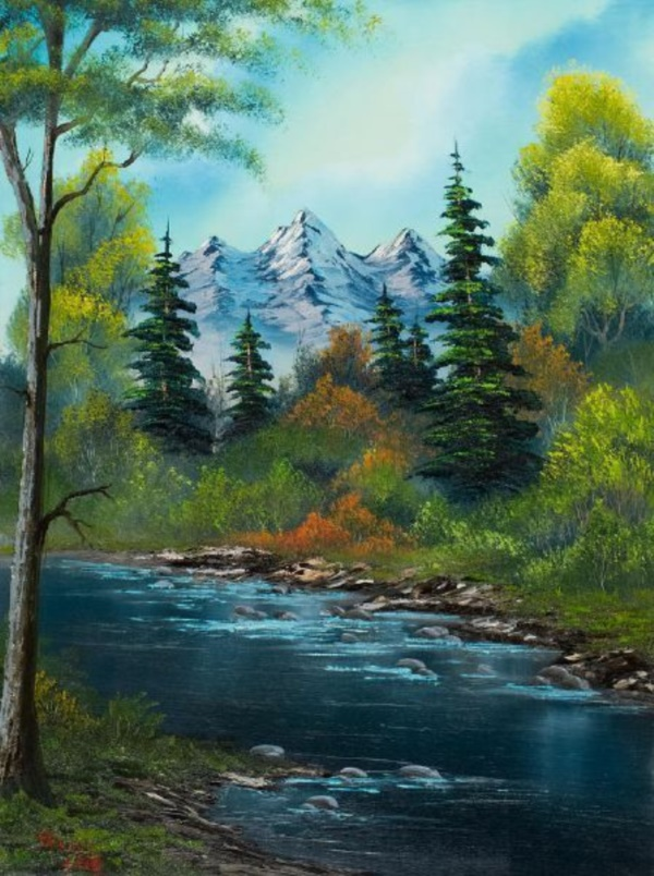 easy landscape painting ideas