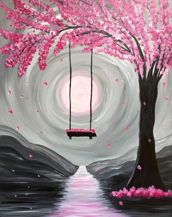 Canvas Art Easy Acrylic Painting Ideas For Beginners On Arte Inspire
