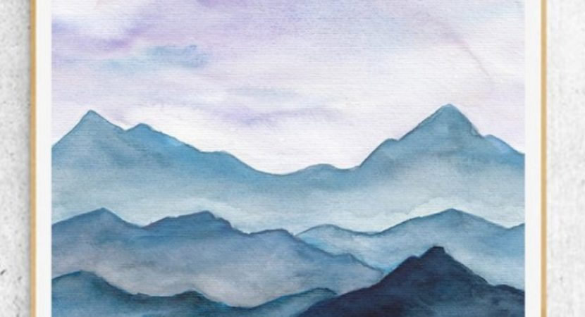 35 easy watercolor landscape