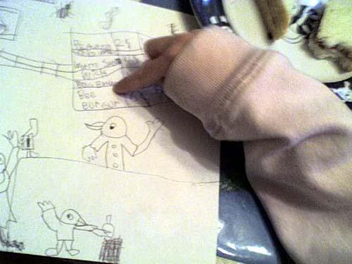 agent m draw stuff