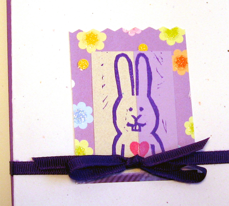 purple bunny card set