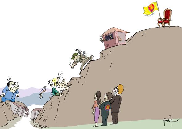 Thein Sein's Uphill Battle CartoonHarnLay Com