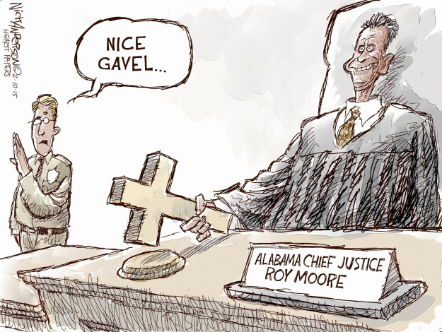 Image result for CARTOONS OF ROY MOORE