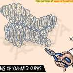 Easing of security curbs in Kashmir!