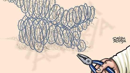 Easing of security curbs in Kashmir!