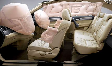 Airbags in the new Honda CR-V: Pic