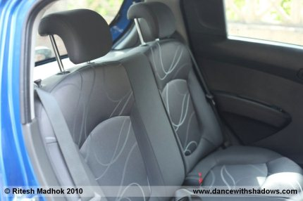 Chevrolet Beat's rear seat is spacious and comfy