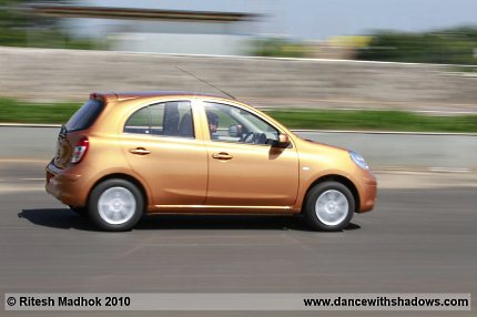 nissan micra mini road test photo