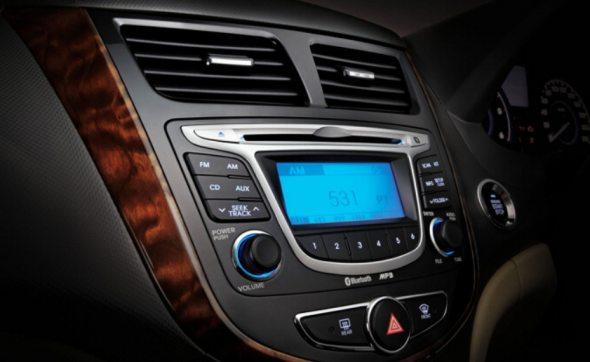 hyundai verna audio system photo