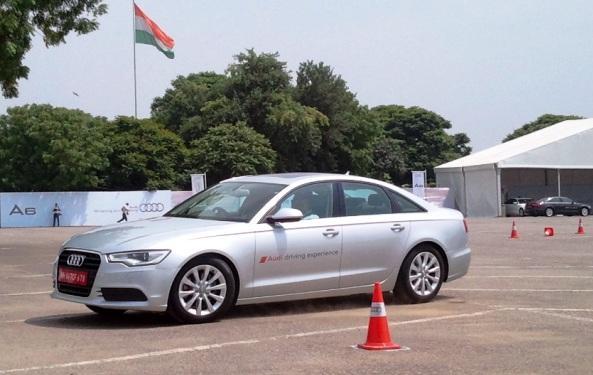 Audi A6 driving photo