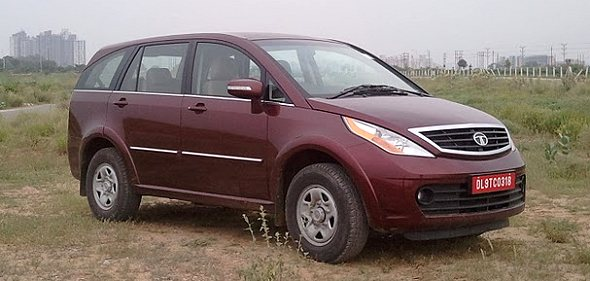 tata aria 4x2 road test photo