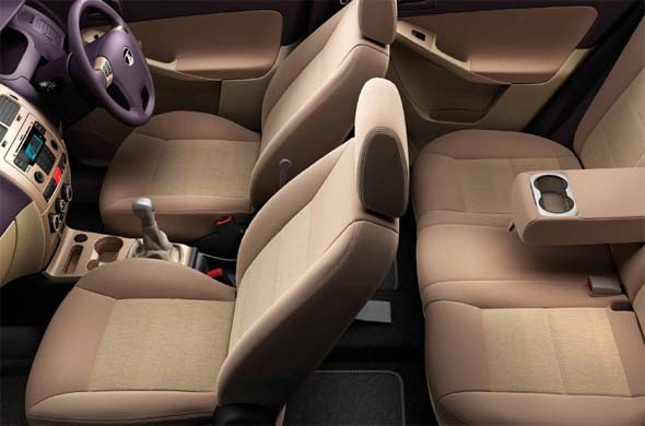 tata manza dashboard and seats