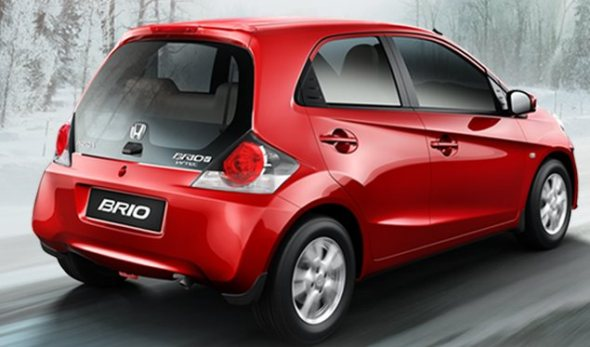 honda brio rear photo